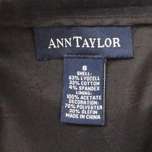 Ann Taylor Skirts - Ann Taylor Navy Diagonal Stripe Skirt Size 6